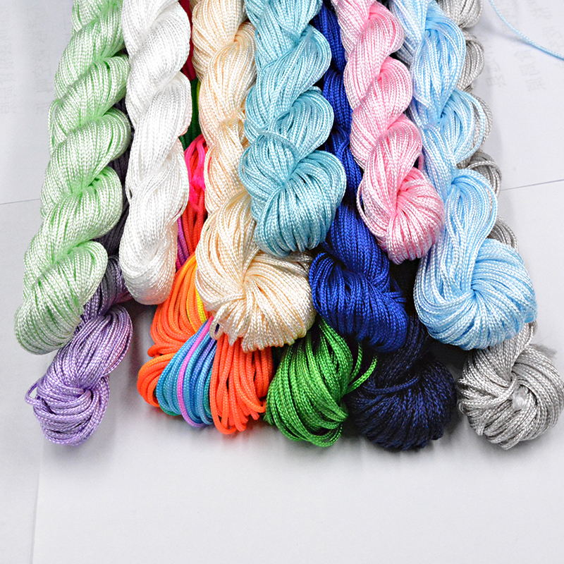 NEW 30 Colors 1.0mm 22M Nylon Cord Thread Chinese Knot Macrame Rattai  Braided String DIY For Jewelry Making Bracelet&Necklace