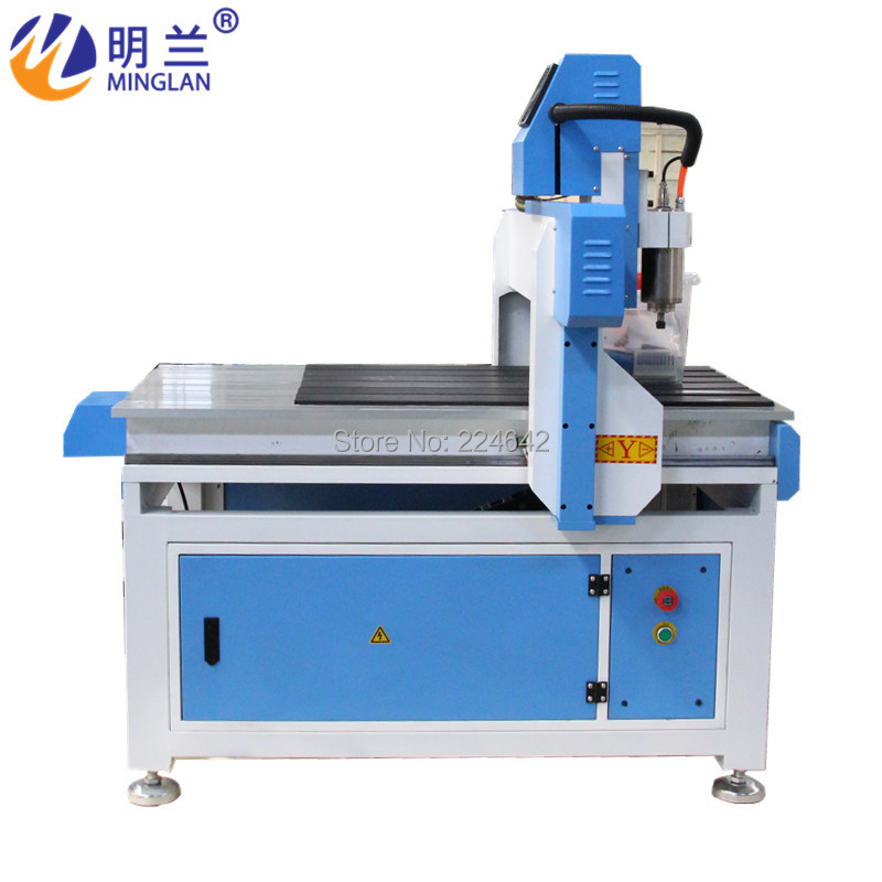 4 Aixs Mini Cnc Router 6090 1.5kw 2.2kw 3kw Water Cooling Spindle / 6090 1325 Cnc Cutting Engraving Machine For Sale