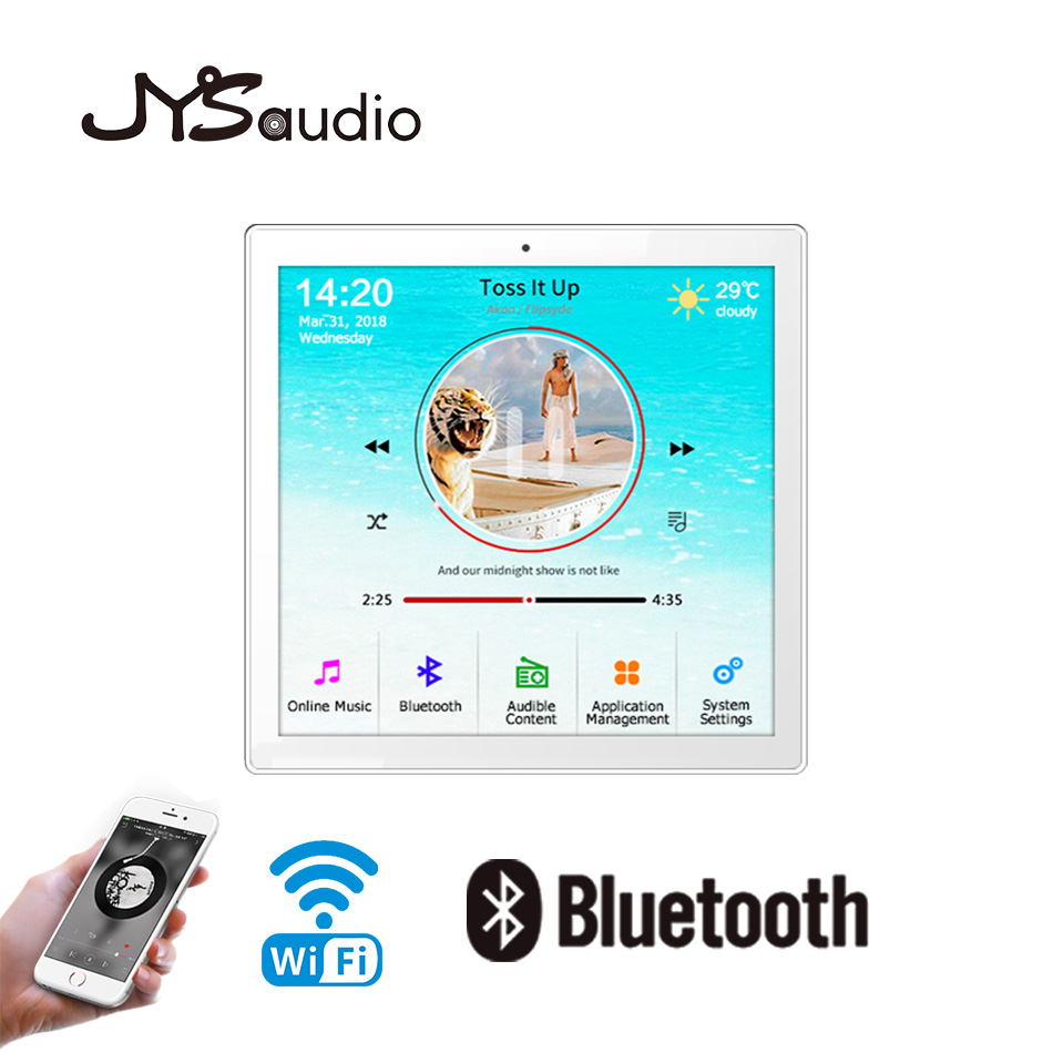 WIFI Wall Amplifier Home Background Muisc System Amplifier Host With Bluetooth USB TF FM Radio Function, Mini Muisc Amplifier(China)