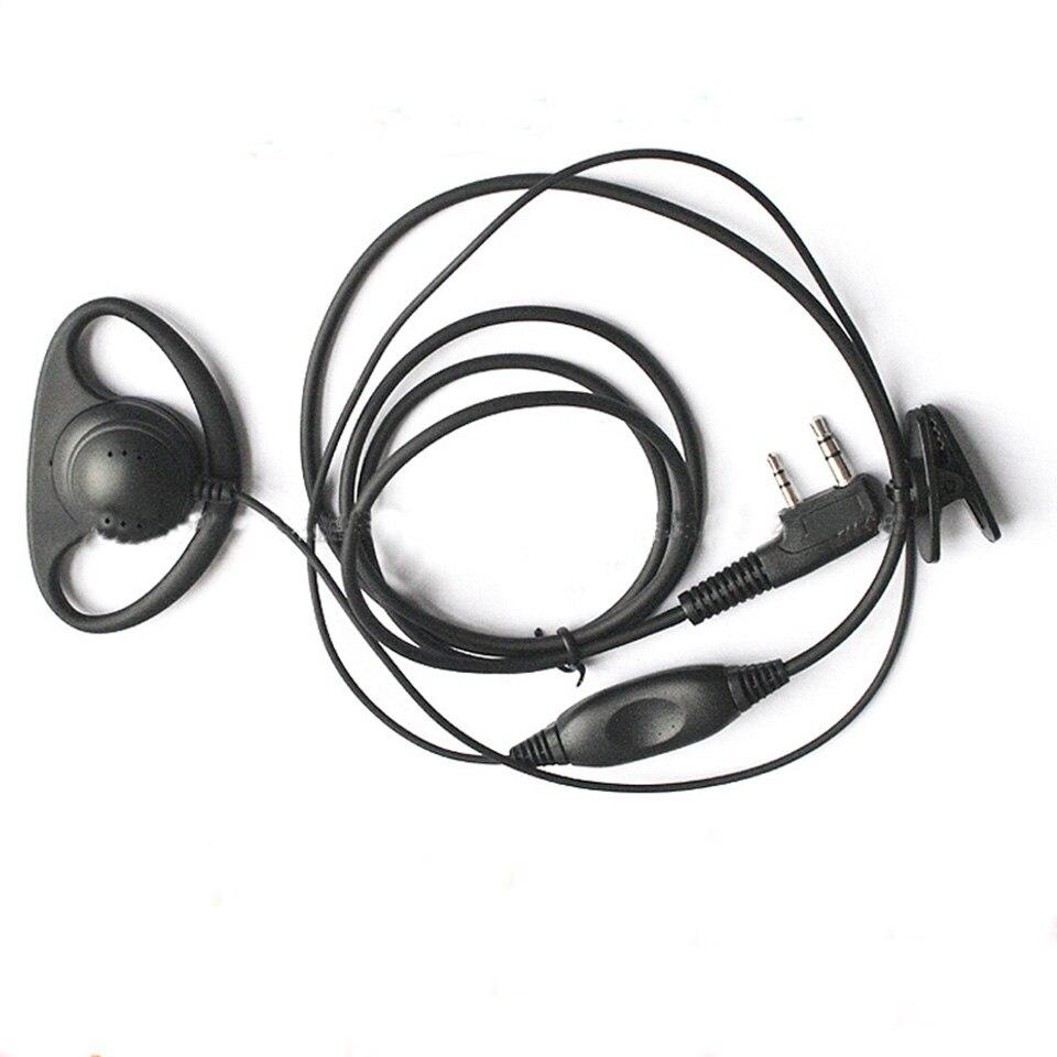 D shape High Quality Earpiece Headset For Walkie Talkie For Kenwood Baofeng BF-888S UV-5R A B C D E  KSUN TYT HYT Quansheng