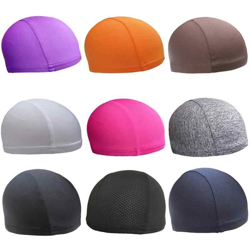 Casco Motoหมวกกันน็อกรถจักรยานยนต์หมวกCoolmaxหมวกQuickแห้งBreathableหมวกRacingภายใต้หมวกนิรภัยหมวกกีฬา