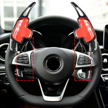 Decal Steering Wheel trim Decor Interior 2pcs Set Car Auto Carbon Fiber