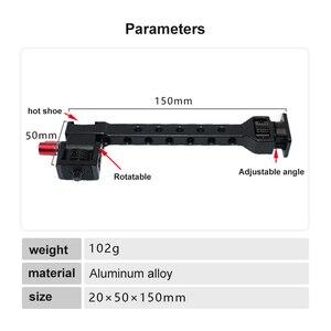 Image 3 - Soporte de luz de Flash para micrófono de zapata de 1/4 pulgadas para Dji Ronin S SC ZHIYUN Weebill Crane 3, soporte de Monitor de cámara de cardán