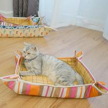 Pet Cooling Bed Dog Mat Breath Blanket Cat Kennel Portable Comfy Calming Sleeping Accessory Super Soft Braid