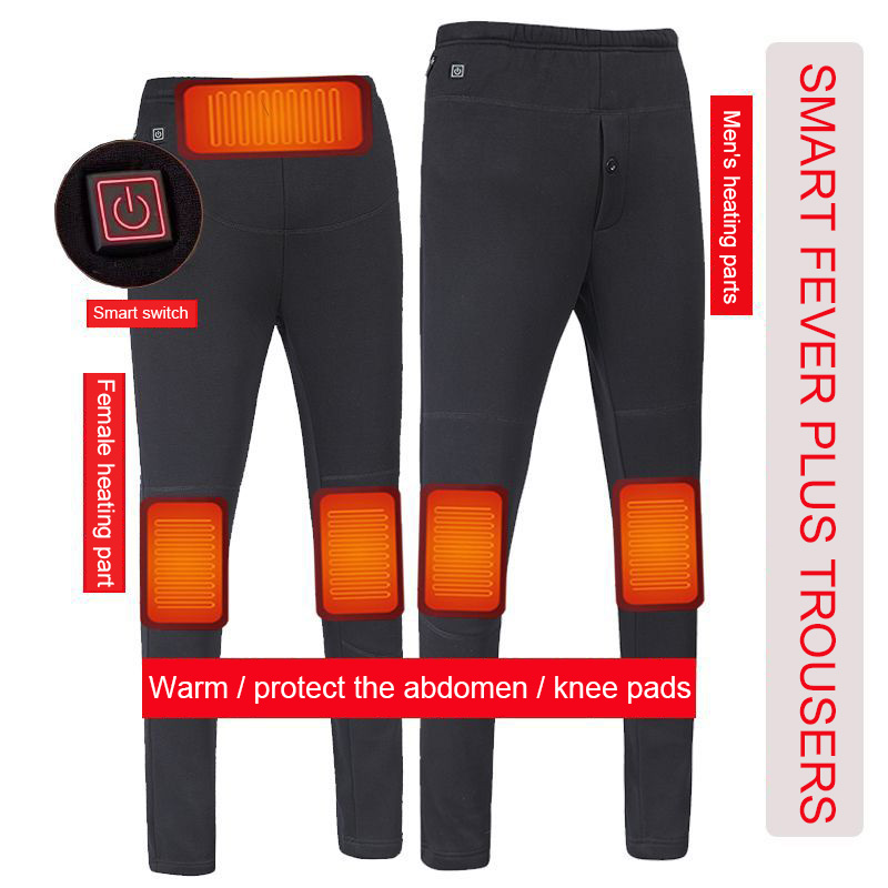 Heated Pants USB Heating Trousers Usb Charging Electric Outdoor Hiking Winter Men women High Waist Legging Electric Warm Pants