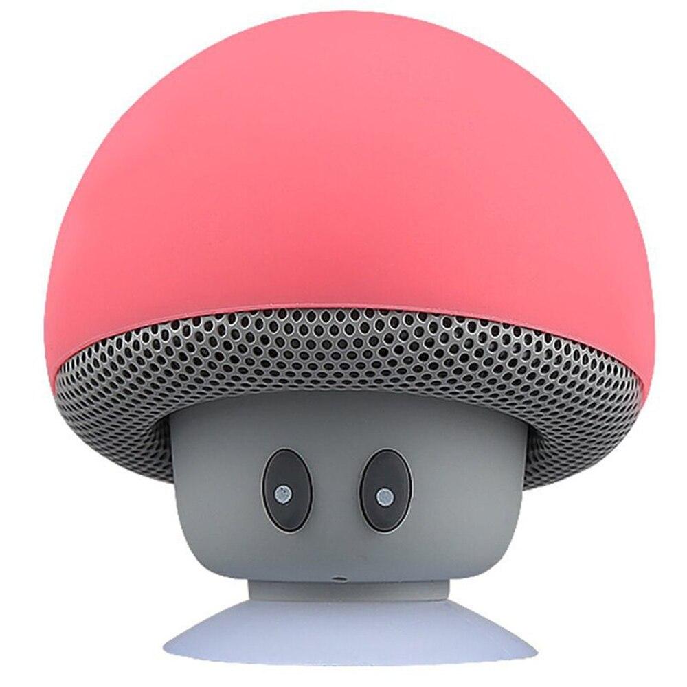 2020 novo cogumelo dos desenhos animados sem fio alto-falante à prova dwaterproof água ventosa mini alto-falante de áudio ao ar livre portátil subwoofer