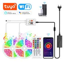 Decoration Smart-Lamp Tuya Amazon Alexa Led-Strip-Lights Google Home for Bedroom Kitchen