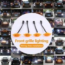 Grade dianteira iluminação para ford F-150 f150 2010-2018 suv universal à prova dwaterproof água carro led luz luzes do carro decoração acessórios do carro