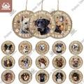 Putuo Decor Hund Runde Holz Zeichen Schöne Freundschaft Haustier Hund Anhänger Tag für Hund Haus Zwinger Tür Dekoration Hund Liebhaber geschenk