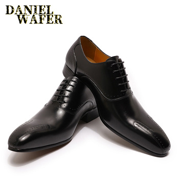 2020 WINTER LUXURY MEN GENUINE LEATHER SHOES LACE UP WEDDING OFFICE BUSINESS POINTED TOE FORMAL MEN DRESS  OXFORD SHOES FOR MEN desai brand luxury genuine leather men oxford shoes pointed toe men dress shoes with double buckle male wedding shoes