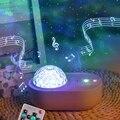 USB Автоматическая регулировка таймера лампа для сна Звездный светильник водная волна проектор Ночной светильник Bluetooth USB музыка прикроватн...