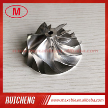 K04 49.52/61.98mm 6 + 6 LAME Turbocompressore di fresatura/alluminio 2618/Billet ruota del compressore