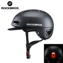 ROCKBROS Cycling Helmet for Scooter Bicyle LED Light Bicycle Unisex Mtb Helmet for Men Women Adjustable Hat Bicycle Accessory