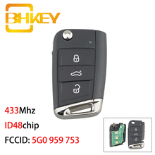 BHKEY 5G0 959 753 Volkswagen Key for Car for Volkswagen MQB 433Mhz Remote Key Car For Golf VII Golf 7 MK7 Skoda Octavia A7 2017
