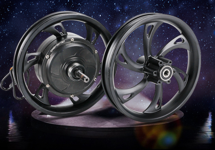 16 Inch High Speed Hob Motor Wheel Assembly Electric Bicycle Brushless Motor Integrated Rear Wheel 36V48V250W Gear Motor