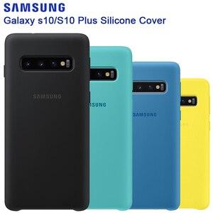 Image 1 - 삼성 원래 실리콘 케이스 전화 커버 갤럭시 S10 S10X S10Plus SM G9750 S10 X S10E SM G970F G970U G970N 충격 방지 커버