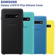 SAMSUNG orijinal silikon kılıf telefon kapak için Galaxy S10 S10X S10Plus SM G9750 S10 X S10E SM G970F G970U G970N darbeye dayanıklı kapak