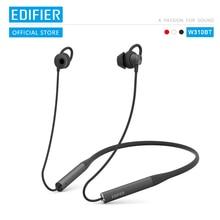 EDIFIER W310BT Bluetooth V4.2 אוזניות עד 8.5 שעות השמעת IPX5 עמיד למים מגנטי אוזניות שיחה נכנסת רטט