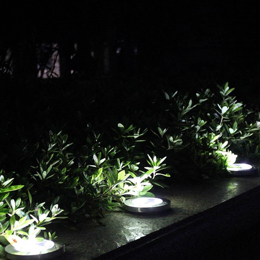 4 8 pçs energia solar enterrado luz