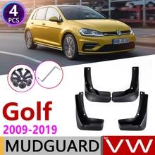 Per Volkswagen VW Golf 6 7 Mk6 MK7 2009 ~ 2019 Auto Paraspruzzi Parafango Mud Flap Guard Splash Flap Parafanghi accessori 2010 2015 2018