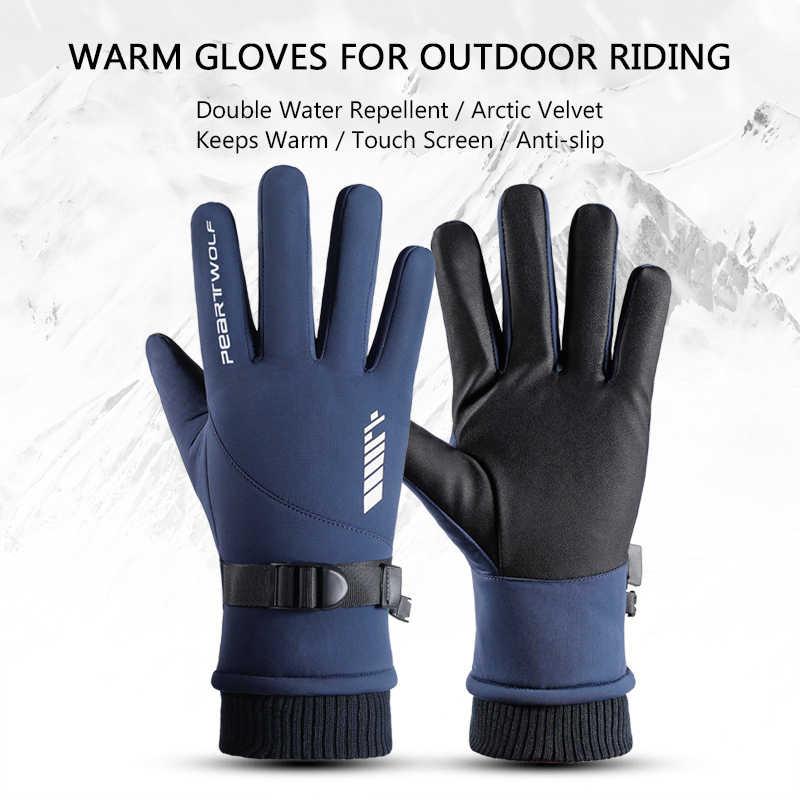 Winter SKi Handschuhe Warm Windproof Wasserdicht Motorrad Fahrrad Touch Screen