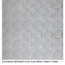 Logotipo de la llave del coche de 11mm de diámetro de 500 piezas, emblema de la llave del coche de cristal de resina epoxi