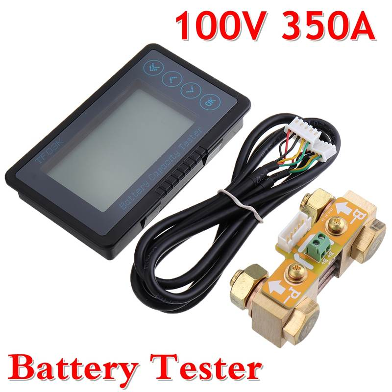 TF03K 100V350A Coulomb Counter Meter Battery Capacity Indicator Voltage Current Display TTL232 Li-ion Acid 1M Shielded Cable