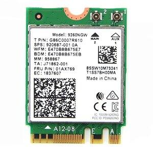 Image 5 - Kit carte Wifi sans fil, 9260ngw, 1730 mb/s, avec antenne à queue de cochon, adaptateur pour ordinateur de bureau, pour NGFF/M.2, 7265NGW 8265NGW 9260ac