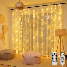 3m 100/200/300 LED Curtain String Light Flash Garland Rustic Wedding Party Decorations Table Bridal Shower Bachelorette Supplies