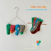 1-8Year 4 Pairs 2021 spring cartoon plaid tube socks boys and girls socks