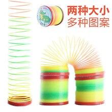Дети круг петли Дженга радужного цвета кольцо пружинный круг катушки От 1 до 3 лет имеют обучающие игрушки