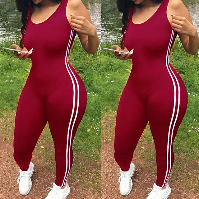Sexy Women Yoga Jumpsuit Sports Gym Running Fitness Legging Pants Athletic Sleeveless Romper Tracksuit Workout Clothes 3