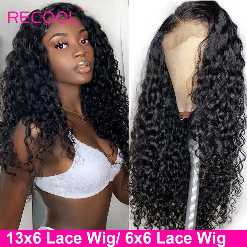13x6 Lace Front Human Hair Wigs Water Wave Lace Front Wig 180 Density 6x6 Lace Closure Innrech Market.com