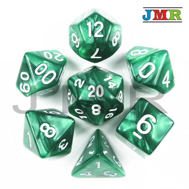 Dados De Rpg 7Pcs/Set Polyhedral RPG Games Marble Effect Dice D4-D20 Multi Sides Dice Pop For Dungeons & Dragons