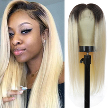 Lace Wigs Human-Hair-Wigs Black Brazilian-613 13x4 Blonde Plucked Straight Ombre