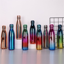 Rose Gold Water Bottle Gradient Portable Stainless Steel Thermos Insulated Cold Heat Cup Vacuum Flask Leak-proof Drink