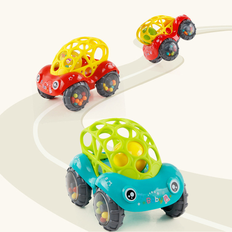 Small Car Infant Educational Newborn 6-12 Month 3 Seven Rattle Ten Hand Seized 0-1-Year-Old Ball Plastic Toy GIRL'S