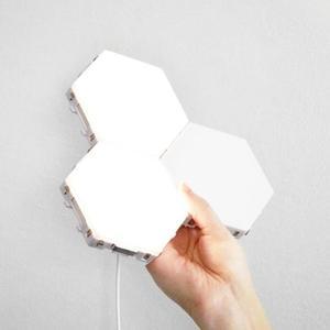 Image 3 - HoneyFly applique murale avec capteur IR tactile, nid dabeille quantique 110, 240 mur LED V, décoration bricolage même