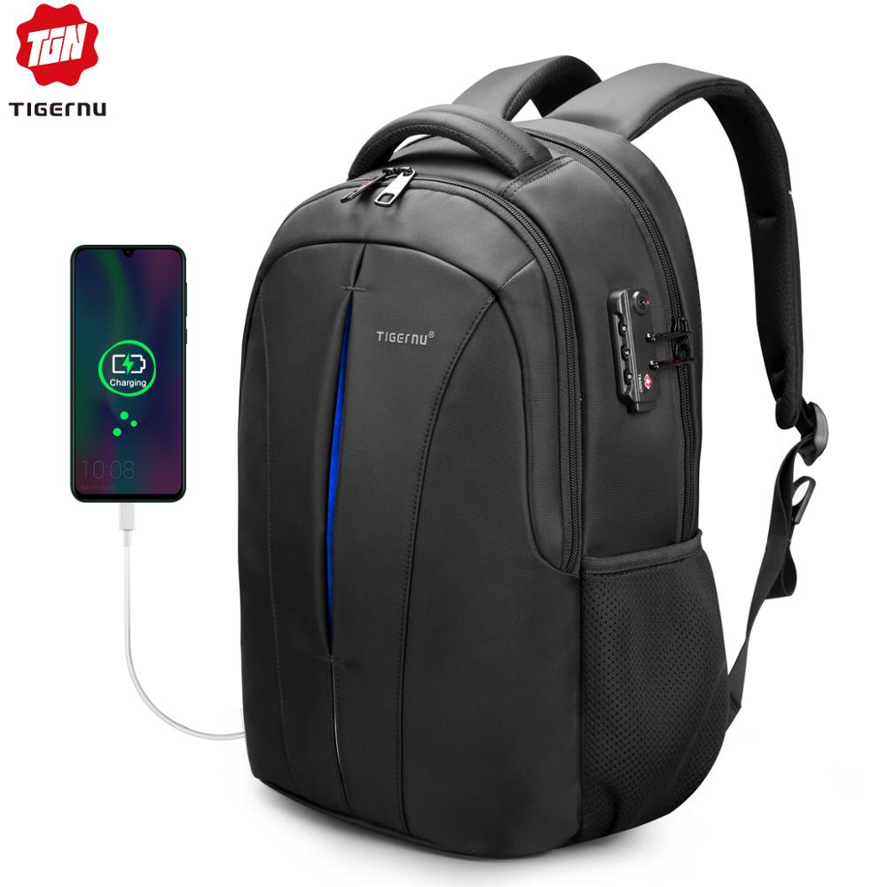Tigernu Waterproof Backpacks Mochila Laptop-Bag School-Bags Women Rucksack College Student title=