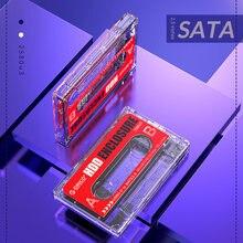Orico 2580u3 usb 3.0 caixa de disco rígido móvel 2.5 polegada transparente 6tb sata hdd ssd externo caixa de fita cassete para portátil