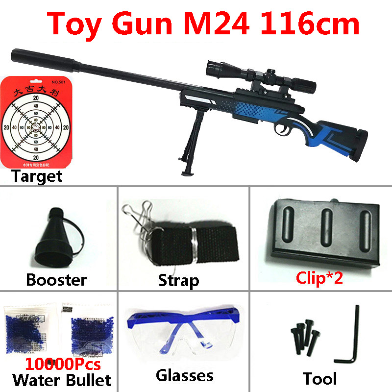 Image 5 - Toy Gun Sniper Rifle Kar98K AWM M24 Mini Airsoft Air Guns Safety Sight Water Bullet Shooting Boys Outdoor Toys Arms Weapon Gift-in Toy Guns from Toys & Hobbies