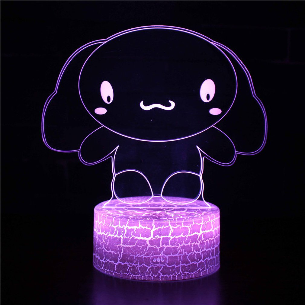 Rabbit Series 3D Stereo Vision Lamp Acrylic 7 Colors Changing USB Bedroom Bedside Night Light Desk Lamp Gifts|LED Table Lamps| |  - title=