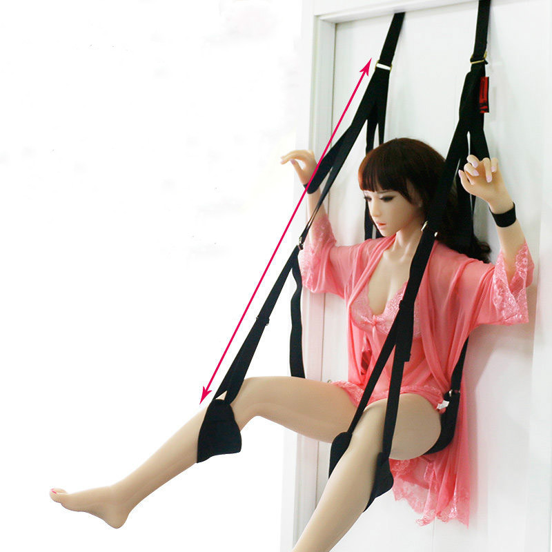 Couples Hanging Door Swing Sex Furniture Bdsm Bondage Tools Fetish Bandage Male Female Fuck Machine Adult Game Sex Furniture