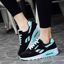Dropshipping Women Air Cushion Sports Shoes Outdoor Running Lace Up Ladies Shoes Woman Sneakers Tenis Feminino Casual Flats 636