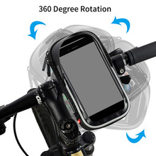 Double Zipper Bicycle Touch Screen Phone Bag MTB Road Bike Head Tube Handlebar Cycling Bag for 6.0 Inch Phone Bag Dropshipping front touch screen bike phone rainproof bag for bicycle handlebar cycling bag phone case bicycle bag mtb pannier bicycle