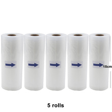 5 Rolls/lot Food Grade Sealer Plastic Food Vacuum Pouch Bag Roll Packaging Embossed Absolutely True