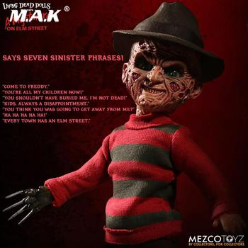 цена на In stock 24.5cm Mezco Toyz 99400 10inch Living Dead Ghost Street Freddy Collection Action Figur for Fans Holiday PVC Figure Toys