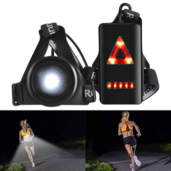 Running Lights LED Night Outdoor Camping Flashlight Warning Light USB Charge Chest Lamp Bicycle Cycling Safety Survival Tool 2
