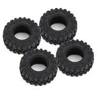 """INJORA 4PCS 1.0"""" All Terrain Soft Rubber Wheel Tires 52*17mm for 1/24 RC Crawler Car Axial SCX24 90081 AXI00001 Deadbolt 6"""