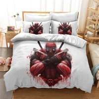 3D Luxury Bedding Set Custom/King/Europe/USA Duvet Cover Set Quilt/Blanket Cover Set Bed Set Deadpool Character Free Shipping
